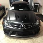 Mercedes car vinyl wrap
